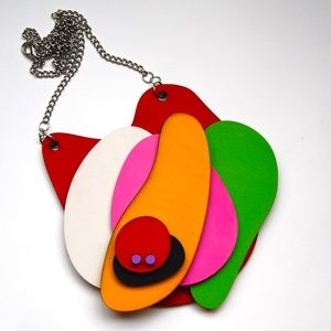 Jewelry - Handmade Artisan Large Wooden Statement Necklace
